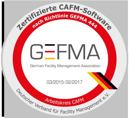 CAFM Software VITRIcon nach GEFMA 444 zertifiziert